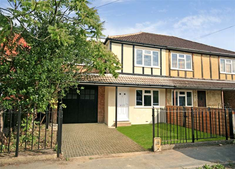 4 Bedrooms Semi Detached House for sale in Common Lane, New Haw, Addlestone, Surrey, KT15