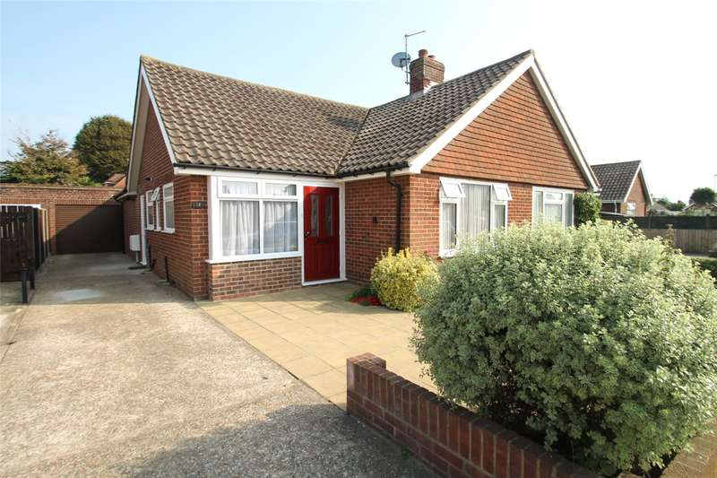 2 Bedrooms Semi Detached Bungalow for sale in Barnsite Gardens, Rustington, West Sussex, BN16