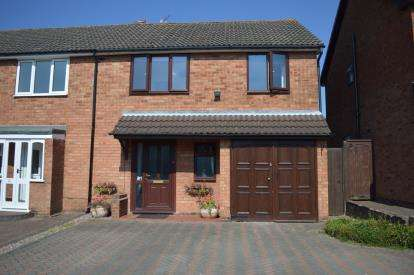 4 Bedrooms Semi Detached House for sale in Mallicot Close, Off Wissage Lane, Lichfield, Staffordshire