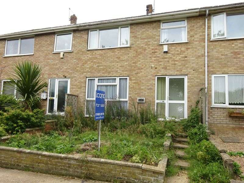 3 Bedrooms Terraced House for sale in Leewood Crescent, New Costessey,Norwich