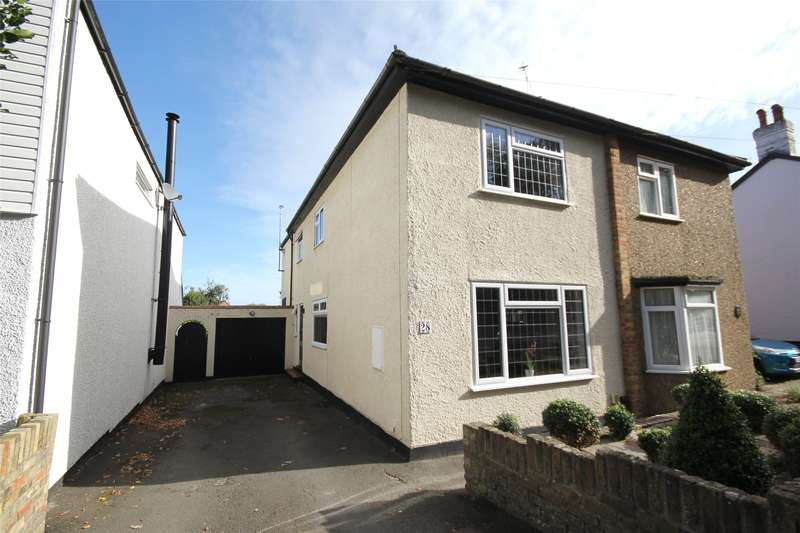 3 Bedrooms Semi Detached House for sale in Hare Hill, Rowtown, Surrey, KT15