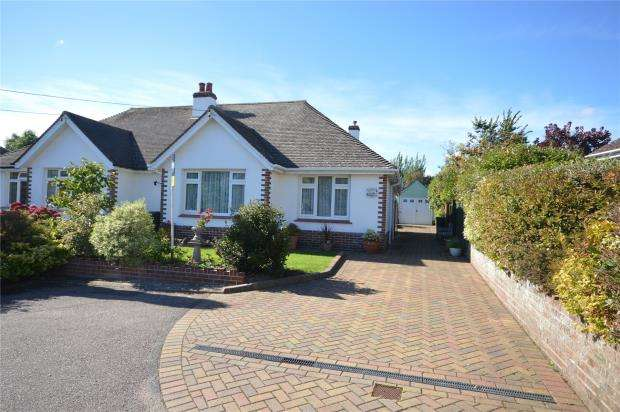 2 Bedrooms Semi Detached Bungalow for sale in Yarde Close, Sidmouth, Devon