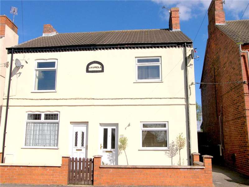 3 Bedrooms Semi Detached House for sale in Wire Lane, Newton, Alfreton, Derbyshire, DE55