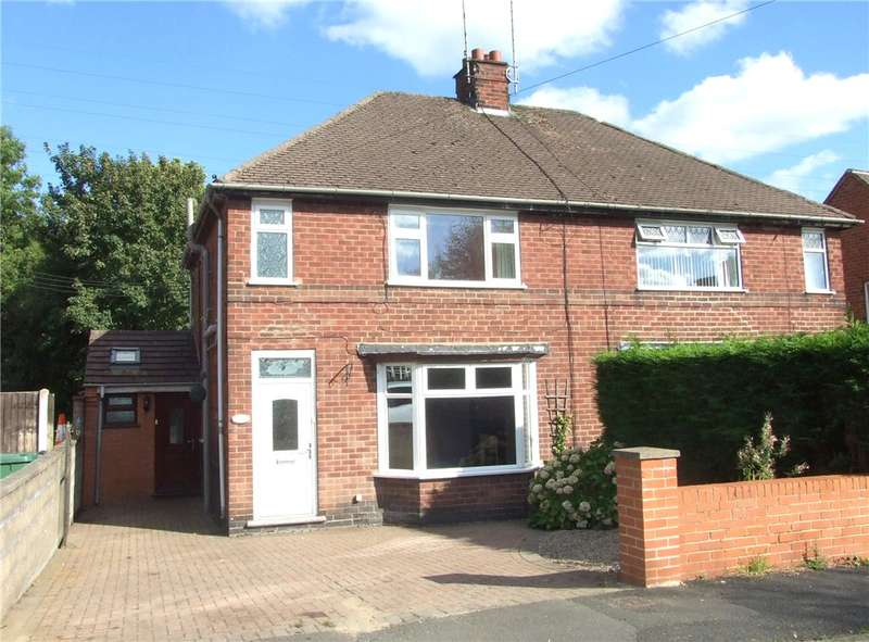 3 Bedrooms Semi Detached House for sale in Lake Avenue, Loscoe, Heanor, Derbyshire, DE75