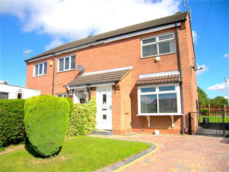2 Bedrooms Semi Detached House for sale in Birchwood Close, South Normanton, Alfreton, Derbyshire, DE55