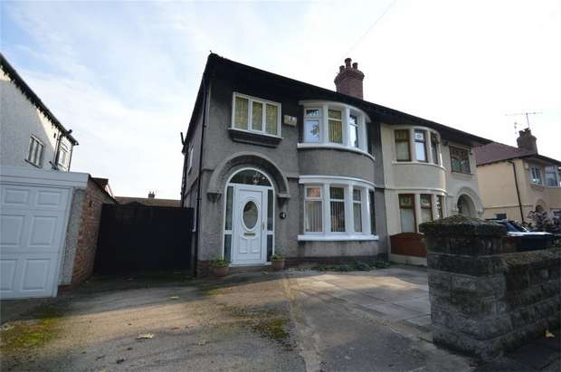 3 Bedrooms Semi Detached House for sale in Woodburn Boulevard, Bebington, Merseyside