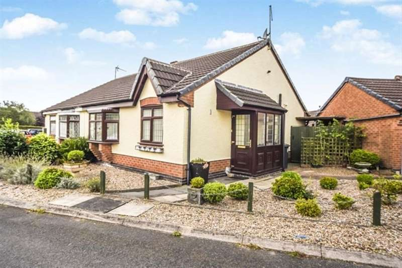 2 Bedrooms Semi Detached Bungalow for sale in Whitcroft Close, Markfield, LE67