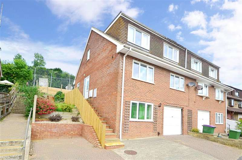 4 Bedrooms Semi Detached House for sale in Valebrook Close, Folkestone, Kent