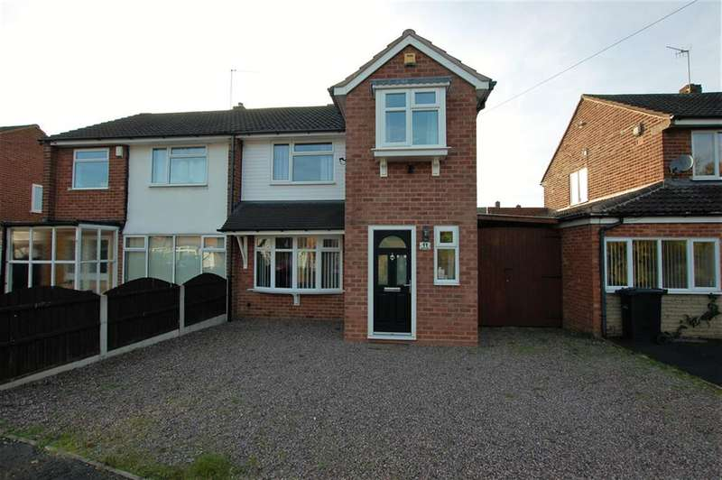 3 Bedrooms Semi Detached House for sale in Fairview Crescent, Kingswinford, DY6 8LF