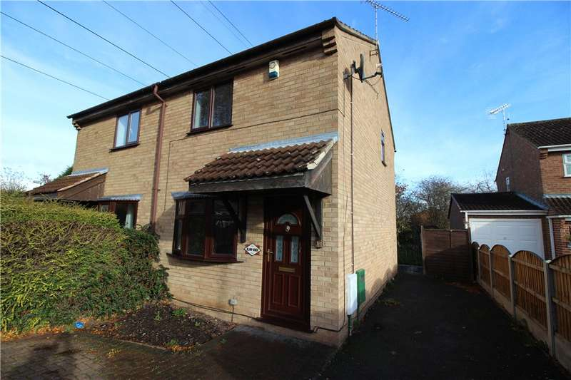2 Bedrooms Semi Detached House for sale in Fox Close, Stenson Fields, Derby, Derbyshire, DE24
