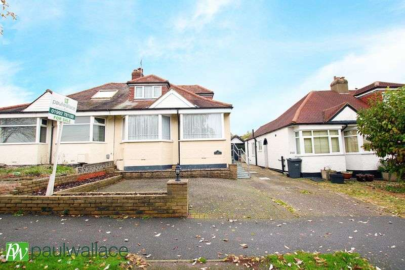 2 Bedrooms Semi Detached Bungalow for sale in Hammondstreet Road, West Cheshunt
