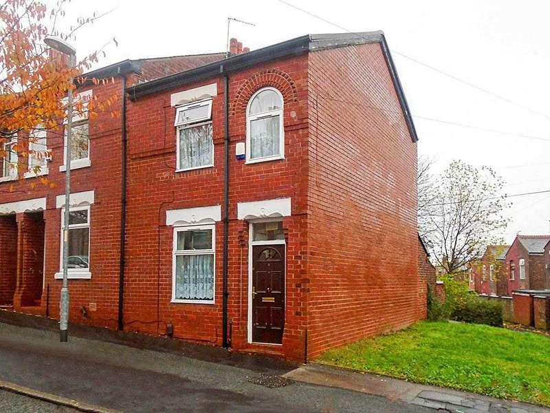2 Bedrooms End Of Terrace House for sale in 2 bed 2 recp terraced, Leicester Road,Manchester M8