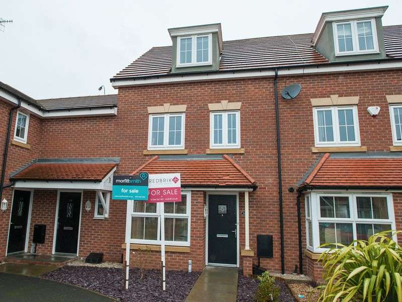 4 Bedrooms Terraced House for sale in Horse Chestnut Close, Chesterfield - Three storey mid townhouse