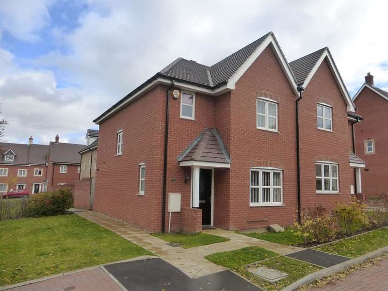 3 Bedrooms Semi Detached House for sale in Bushfield Court, New Cardington, Bedford, MK42