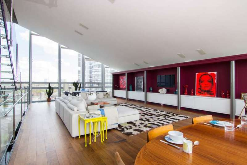 3 Bedrooms Penthouse Flat for sale in The Montevetro Building, 100 Battersea Church Road