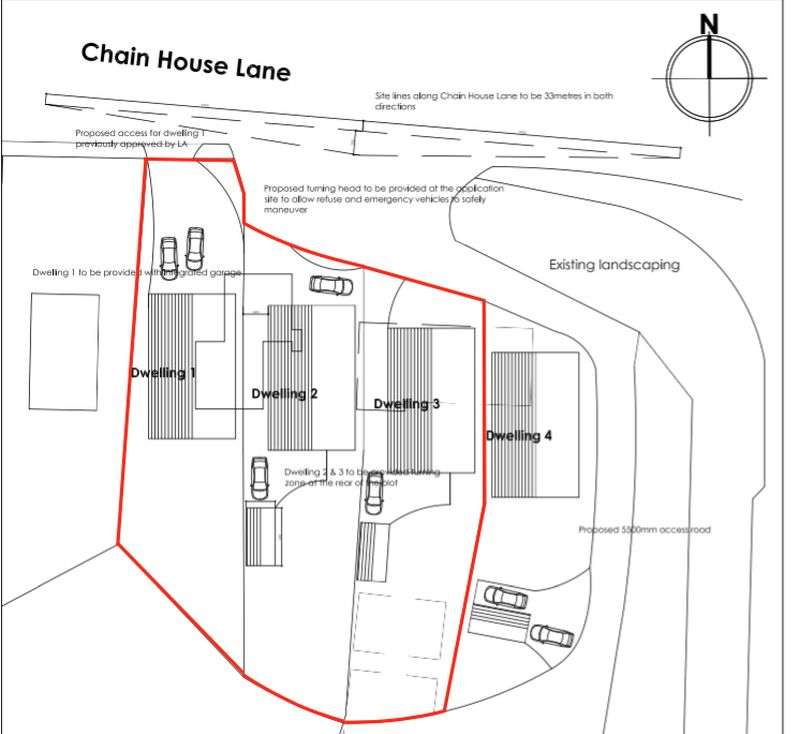 Land Commercial for sale in Outline Planning Permission for 3 Plots - Chain House Lane, Whitestake, Preston