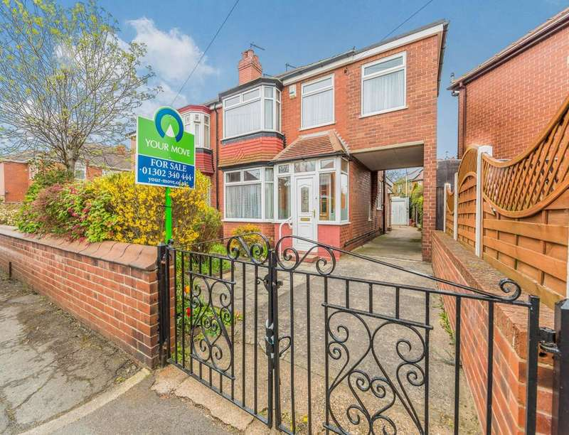 3 Bedrooms Semi Detached House for sale in Clifton Crescent, Wheatley Hills, Doncaster, DN2