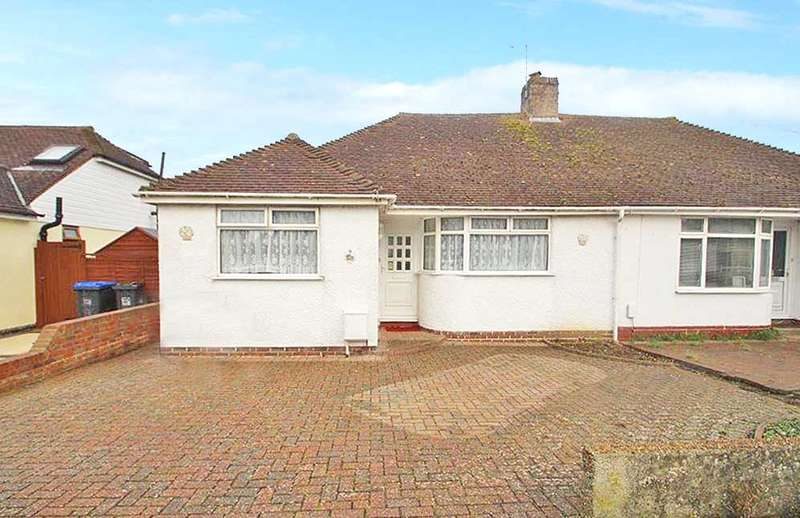 2 Bedrooms Semi Detached Bungalow for sale in Ingleside Crescent, Lancing, West Sussex, BN15