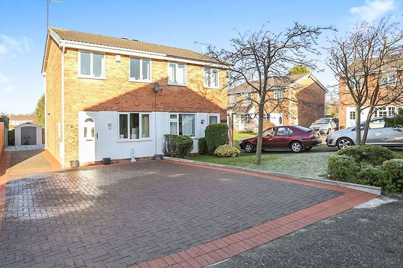 2 Bedrooms Semi Detached House for sale in Naseby Road, Perton, Wolverhampton, WV6