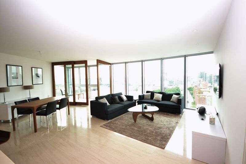 2 Bedrooms Flat for sale in The Tower, St George Wharf, Vauxhall SW8