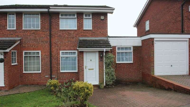 2 Bedrooms Semi Detached House for sale in Kingscote Close, Church Hill North, Redditch