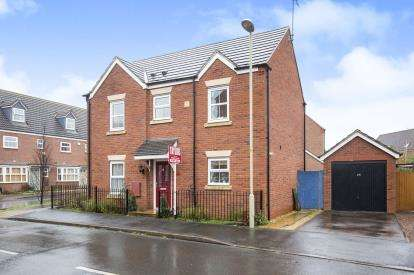 3 Bedrooms Detached House for sale in Wittering Way Kingsway, Quedgeley, Gloucester, Gloucestershire