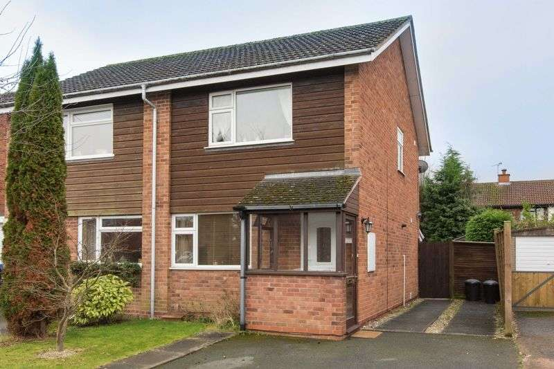 2 Bedrooms Semi Detached House for sale in Barneby Avenue, Bartestree, Hereford, HR1 4DH