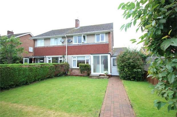 3 Bedrooms Semi Detached House for sale in Priory Gardens, USK, Monmouthshire