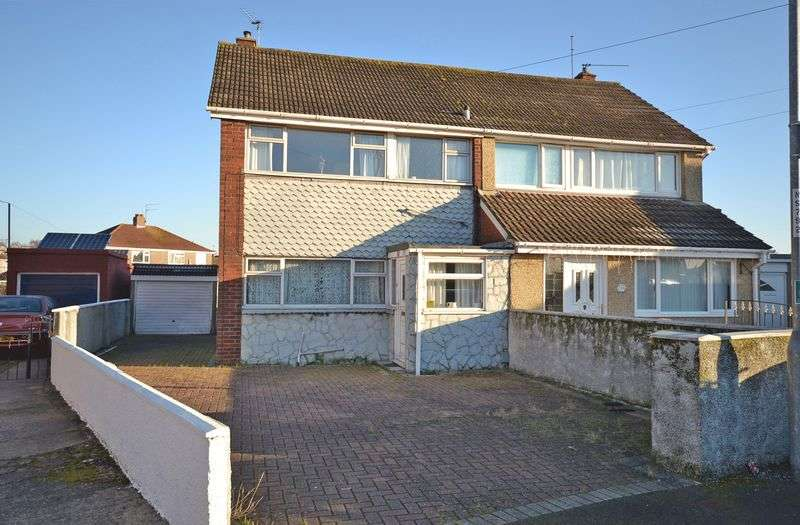3 Bedrooms Semi Detached House for sale in Extended Semi, Hillview Crescent, Newport