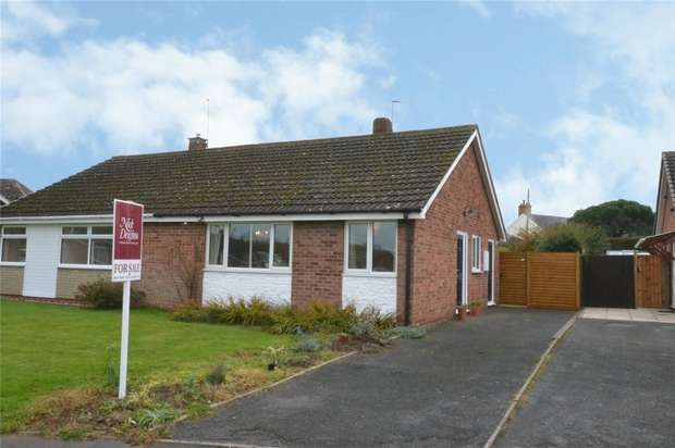 2 Bedrooms Semi Detached Bungalow for sale in 63 Hampton Drive, Newport, Shropshire