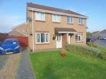 3 Bedrooms Semi Detached House for sale in Miller Hill, West Hunsbury, Northampton, Northamptonshire