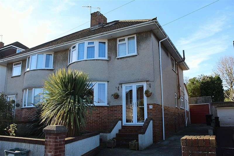 4 Bedrooms Semi Detached House for sale in Hillcroft Close, Weston-Super-Mare