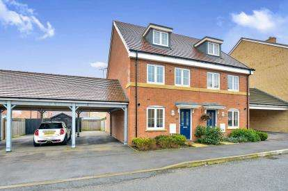 3 Bedrooms Semi Detached House for sale in Sumatra Crescent, Newton Leys, Bletchley, Milton Keynes