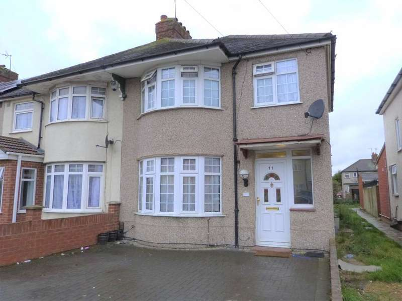 3 Bedrooms End Of Terrace House for sale in Windsor Gardens, Hayes, UB3 1QY