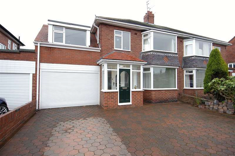 4 Bedrooms Semi Detached House for sale in West Dene Drive, North Shields, NE30 2SZ