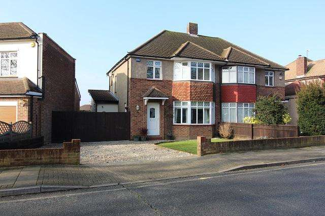 3 Bedrooms Semi Detached House for sale in Cathcart Drive, Orpington, Kent, BR6 8BU