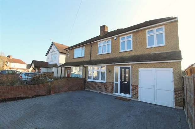 4 Bedrooms Semi Detached House for sale in Cumberland Road, Ashford, Surrey