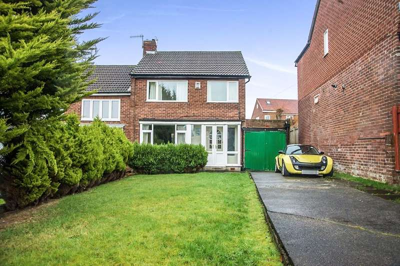 3 Bedrooms Semi Detached House for sale in Horncliffe Gardens, Swalwell, Newcastle Upon Tyne, NE16