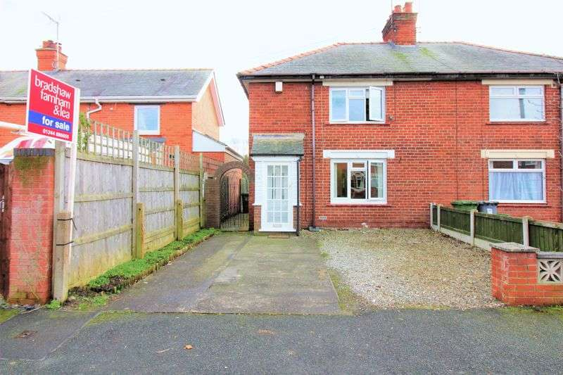 2 Bedrooms Semi Detached House for sale in Belvedere Drive, Wrexham