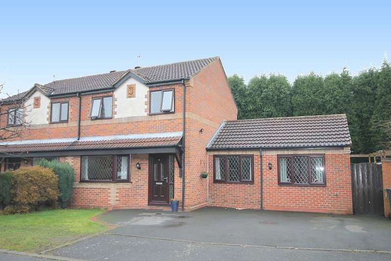 4 Bedrooms Semi Detached House for sale in Sherwood Close, Wood End, CV9 2RT