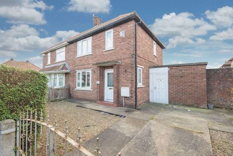 2 Bedrooms Semi Detached House for sale in Shaftesbury Road, Teesville, Middlesbrough, TS6 9BG