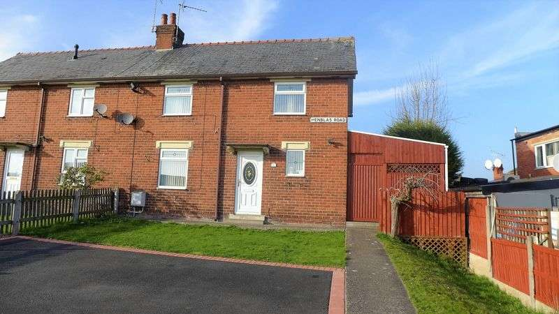 3 Bedrooms Semi Detached House for sale in Henblas Road, Wrexham