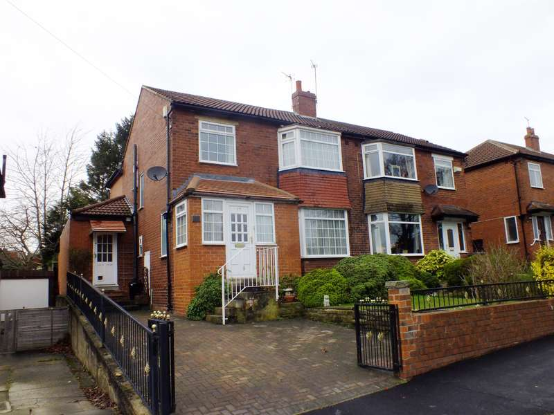 4 Bedrooms Semi Detached House for sale in The Avenue, Alwoodley, Leeds, LS17 7NY