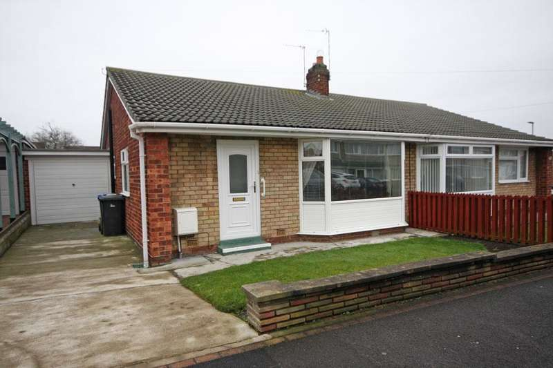 2 Bedrooms Semi Detached Bungalow for sale in Grasmere Road, Garden Farm, Chester-le-Street DH2 3ET