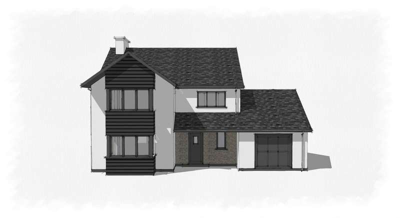 4 Bedrooms Detached House for sale in Plot 4, Cefn Ceiro, Llandre, Bow Street, Aberystwyth SY24
