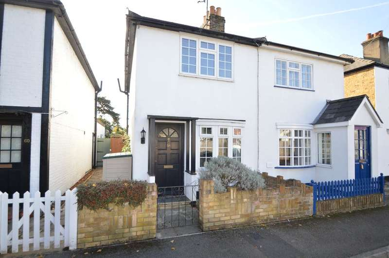 2 Bedrooms Semi Detached House for sale in Thistlecroft Road, HERSHAM kt12