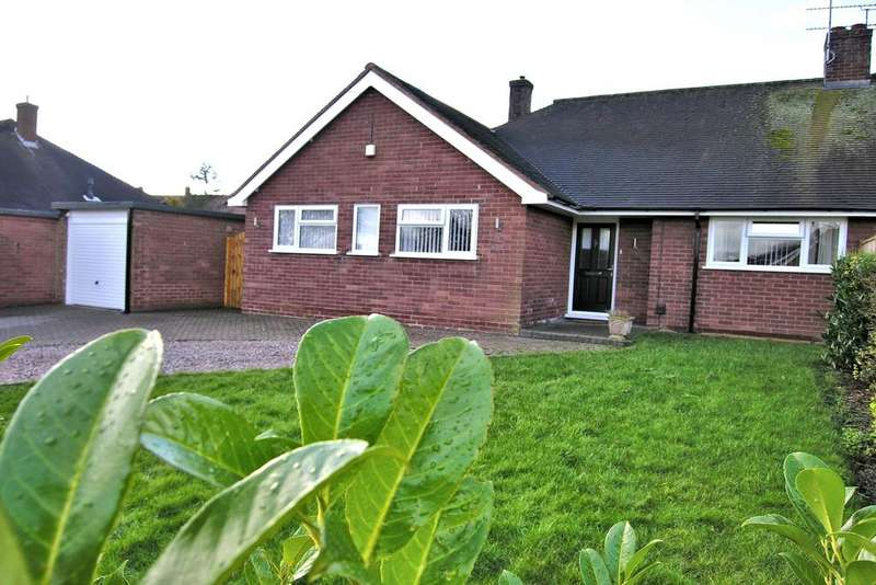 3 Bedrooms Semi Detached Bungalow for sale in HIGHLANDS, OFF WOLVERHAMPTON ROAD, STAFFORD ST17