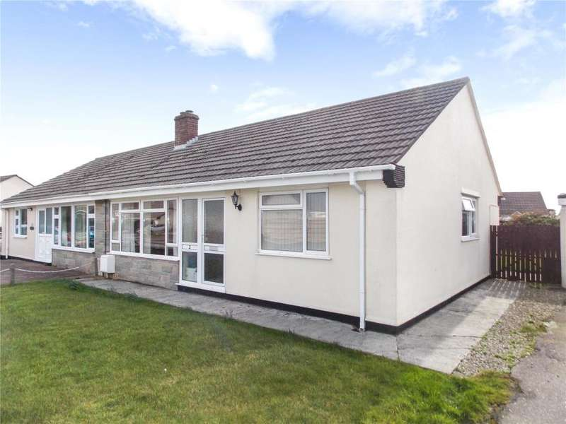2 Bedrooms Semi Detached Bungalow for sale in Carlyon Close, Threemilestone, Truro