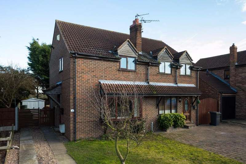 3 Bedrooms Semi Detached House for sale in Holmes Drive, Riccall, York