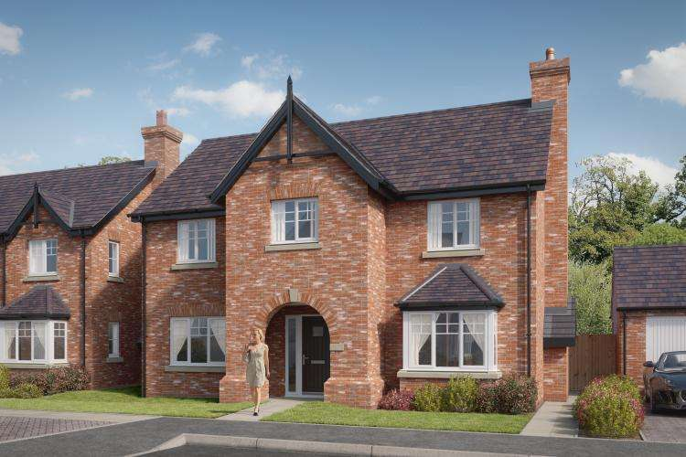 4 Bedrooms Detached House for sale in Plot 1 - The Ashford, Belvidere Park, Belvidere, Shrewsbury, SY2 5LW
